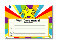 Certificate: Well Done Award
