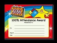 Certificate: 100% Attendance Award