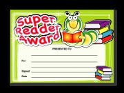 Certificate: Super Reader Award