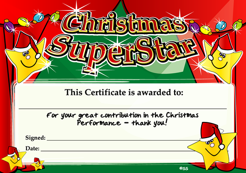 Certificate: Christmas Superstar