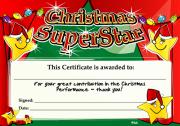 Certificate: Christmas Superstar