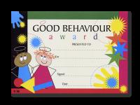 Certificate: Good Behaviour Award