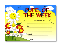 Certificate: Pupil of the Week