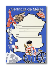 Certificate: Certificat de Mérite - Map