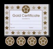 Certificate: Star Non Foil Gold