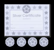 Certificate: Star Non Foil Silver