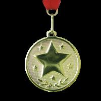 Medal: Round Gold Star