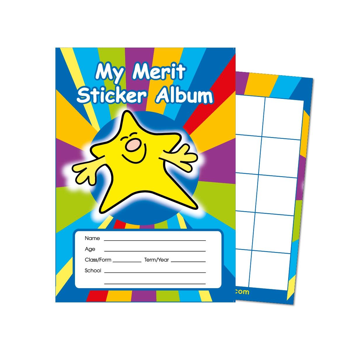 Certificate: Merit Sticker Album - Smiley Star