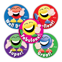 Sticker: Coloured Smileys