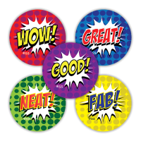 School Stickers: Comic Style Variety Pack