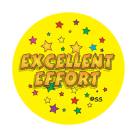 Sticker: Excellent Effort - Stars