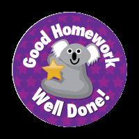 Sticker: Good Homework Well Done