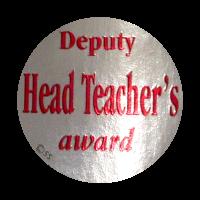 Sticker: Deputy Head Teacher`s Award – Silver Metallic Foil