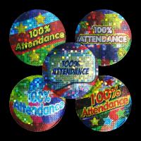 Sticker: 100% Attendance Variety Pack - Sparkling