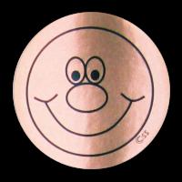 Sticker: Smiley Face - Bronze Metallic Foil