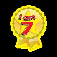 Sticker: I Am 7 - Rosette