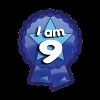 Sticker: I Am 9 - Rosette
