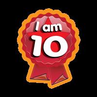 Sticker: I Am 10 - Rosette