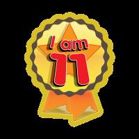 Sticker: I Am 11 - Rosette