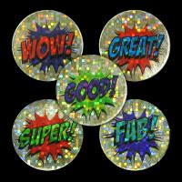 Sticker: Praise Words Stickers (Gold Sparkling)