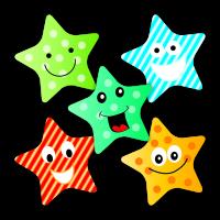 Sticker: Star Pattern - Cola Scent