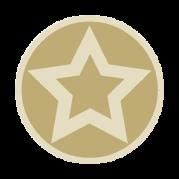 Sticker: Gold Star - Embossed