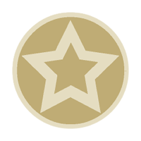 Sticker: Gold Star - Embossed