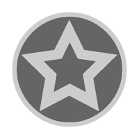 Sticker: Silver Star - Embossed