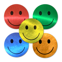 Sticker: Happy Face Variety Pack - Metallic Foil