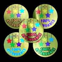 Sticker: Attendance Variety - Metallic Gold Foil