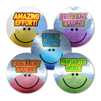 Sticker: Effort Smilies - Metallic Foil