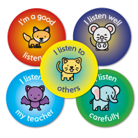 Sticker: Listening Animals