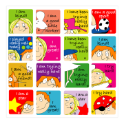 Sticker: Affirmation and Effort Superkids Variety Sheet