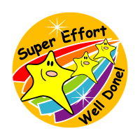 Sticker: Super Effort Well Done! - Stars