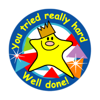 Sticker: You Really Tried Hard Well Done! - Star