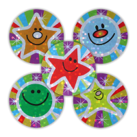Sticker: Rainbow Smiles & Stars - Variety Sheet