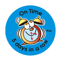 Sticker: On Time 5 days in a Row - Alarm Clock