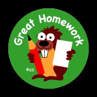 Sticker: Great Homework