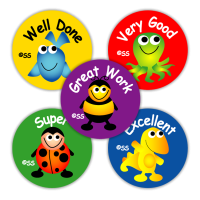 School Stickers: Characters Variety Sheet