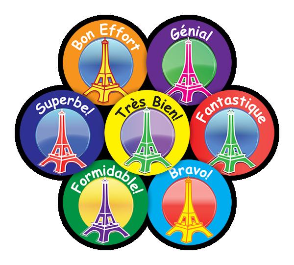Sticker: French Midi Eiffel Towers