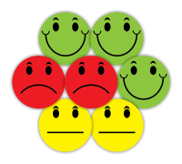 Sticker: Happy/Sad Faces - Midi