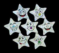 Sticker: Die Sparkling Smiley Stars - Midi