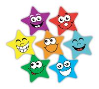 Sticker: Die Cut Coloured Stars - Midi