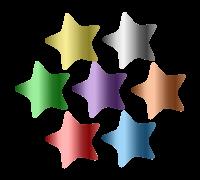 Foil Sticker: Foil Multicolour Star Midi Stickers