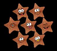 Sparkling Sticker: Smiley Sparkling Bronze Star Midi Stickers