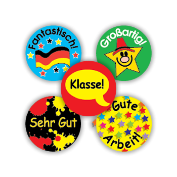 Sticker: German Minis Variety Pack