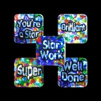 Sticker: Square Mini Sparkling Praise