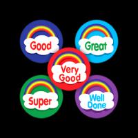 Sticker: Round Mini - Rainbow