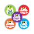 Sticker: Round Mini - Bee