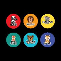 Stickers: Praise Animals Mini Stickers
